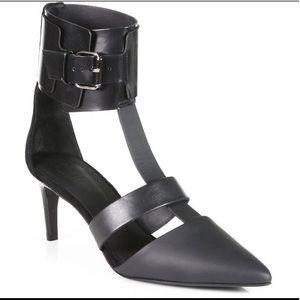 Tibi black leather heels eu38 us8